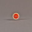 """Front view of 2 1/2"""" circle acrylic embedment with full color image"""