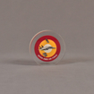 """Front view of 3 1/2"""" circle acrylic embedment with full color image"""