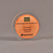 """Front view of 5"""" circle acrylic embedment with printed wood chip"""