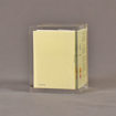 """Side view of 3 1/4"""" prospectus book acrylic embedment award with document mounted in clear acrylic."""