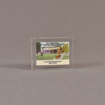 """Front view of 3"""" x 4"""" rectangle acrylic embedment award with mini ground breaking shovel and building cast in acrylic."""
