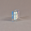 """Side view of 3 1/2"""" x 7"""" rectangle acrylic embedment award with Ticketmaster ticket cast into crystal clear acrylic."""