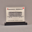 """Front view of 5"""" x 6"""" rectangle acrylic embedment award with CIT Railcar Litigation ruling cast into clear acrylic."""