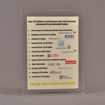 """Front view of 6"""" x 8"""" rectangle acrylic embedment award with Over $25 Billion Served message cast into acrylic."""