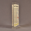 "Side view of 6"" x 8"" rectangle acrylic embedment award with Over $25 Billion Served message cast into acrylic."