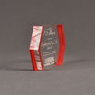 """Side view of ColorCast™ 7"""" Edges Acrylic Award with red color highlight showing trophy laser engraving."""