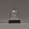 """Front view of Composites™ 6"""" Obelisk Acrylic Award with Sanded Black Onyx Staron® accent showing trophy laser engraving."""