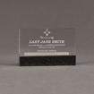 "Front view of Composites™ 6"" Rectangle Acrylic Award with Sanded Black Onyx Staron® accent showing trophy laser engraving."