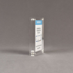"""Side view of Allure™ 4"""" x 6"""" Acrylic Entrapment Award with printed Varian message inside two pieces of clear acrylic."""