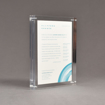 """Angle view of Allure™ 6"""" x 8"""" Acrylic Entrapment Award with printed Clifford Chance message sandwiched inside two pieces of clear acrylic."""