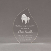 "Front view of 7"" Aspect™ Flame™ Acrylic Award featuring laser engraved piano and appreciation award text."