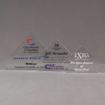 Aspect™ Flat Peak Acrylic Award Grouping showing all three sizes of acrylic trophies.