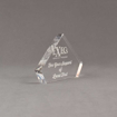 """Side view of 4"""" Aspect™ Flat Peak™ Acrylic Award featuring laser engrave Exec's logo and thank you text."""