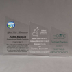 Aspect™ Meridian Acrylic Award Grouping showing all three sizes of acrylic trophies.
