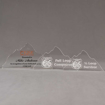 Aspect™ Mountain Acrylic Award Grouping showing all three sizes of acrylic trophies.