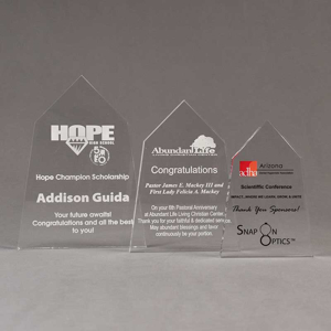 Aspect™ Obelisk Acrylic Award Grouping showing all three sizes of acrylic trophies.