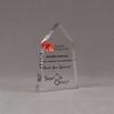 "Angle view of Aspect™ 6"" Obelisk™ Acrylic Award featuring ADHA logo printed in full color with thank you for sponsorship text."