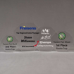 Aspect™ Octagon Acrylic Award Grouping showing all four sizes of acrylic trophies.