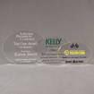 Aspect™ Oval Acrylic Award Grouping showing all three sizes of acrylic trophies.