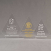 Aspect™ Peak Acrylic Award Grouping showing all three sizes of acrylic trophies.