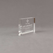 """Side view of Aspect™ 5"""" Rectangle™ Acrylic Award featuring laser engraved Sphinx Court logo and Life Member text."""
