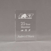 """Front view of Aspect™ 6"""" Rectangle™ Acrylic Award featuring laser engraved FAST logo with 25 Year Member text."""