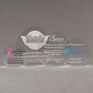 Aspect™ Round Acrylic Award Grouping showing all four sizes of acrylic trophies.