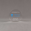 """Front view of Aspect™ 4"""" Round™ Acrylic Award featuring full color Philadelphia Section logo and Retirement Award text."""