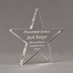 """Angle view of Aspect™ 8"""" Shooting Star™ Acrylic Award featuring laser engraved text Procurement Services Award."""