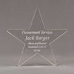"""Front view of Aspect™ 8"""" Shooting Star™ Acrylic Award featuring laser engraved text Procurement Services Award."""