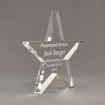 """Side view of Aspect™ 8"""" Shooting Star™ Acrylic Award featuring laser engraved text Procurement Services Award."""