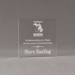 """Front view of Aspect™ 5"""" Square™ Acrylic Award featuring laser engraved Michigan Agriculture logo and outstanding contributions text."""