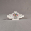 Front view of 15 Square Inch Elite Series LaserCut™ Acrylic Award with custom shape of Texas Roadhouse logo.