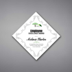 """Adamas Acrylic Plaque shown 12"""" tall with white background and full color imprint of Employee Excellence logo."""