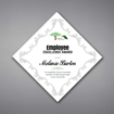 """Adamas Acrylic Plaque shown 14"""" tall with white background and full color imprint of Employee Excellence logo."""