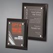 Black Piano Finished Plaques with acrylic cover held gracefully over plaque board with aluminum standoffs.