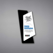 """Polygon Acrylic Plaque shown 11"""" tall with a white acrylic face plate over a polygon shaped black acrylic background with Rakakin Council Thank You Award printed."""
