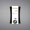 """Plank Acrylic Plaque shown 11"""" tall with a white acrylic face plate eclipsing a black acrylic concave back with Young Professional of the Year printed."""