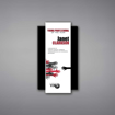 """Shadow Acrylic Plaque shown 11"""" tall with a white acrylic face plate over a rectangle shaped black acrylic background with Young Professional logo and award text printed."""
