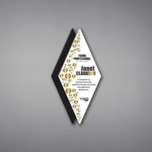 """Diamond Acrylic Plaque 13"""""""